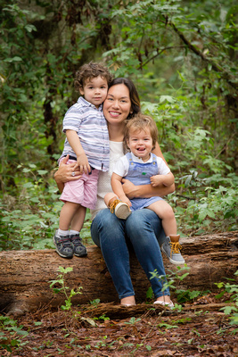 Mom with Children Outdoor Photo
