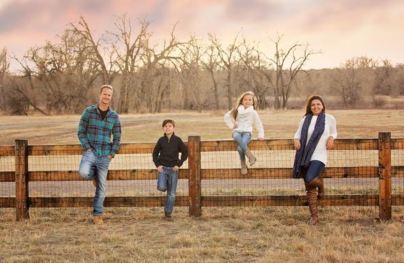 Sunset Family Photo - Parker CO
