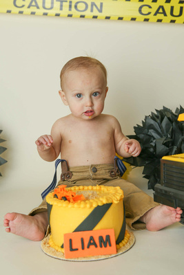 Liam and his First Birthday Cake