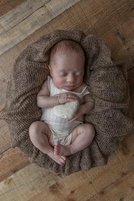 Newborn Baby Girl Posed with Heart