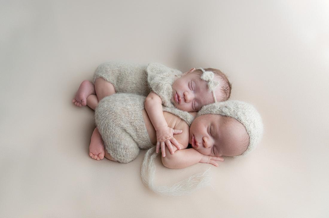 Newborn Boy and Girl Twins