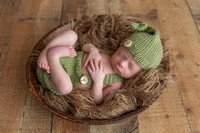 Newborn Baby Boy in Romper