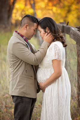 Fall Couples Maternity Photo