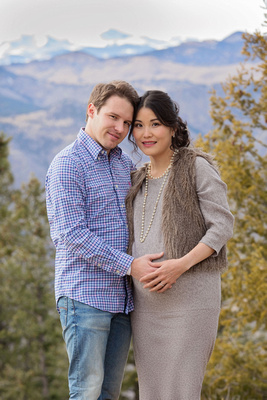 Couples Winter Maternity Photo