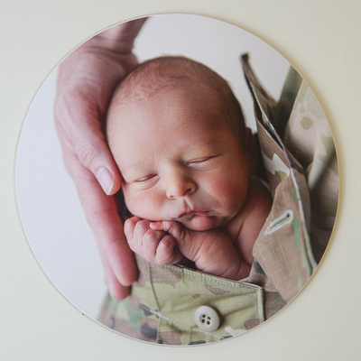Round Wooden Wall Print - Finished Photography Product