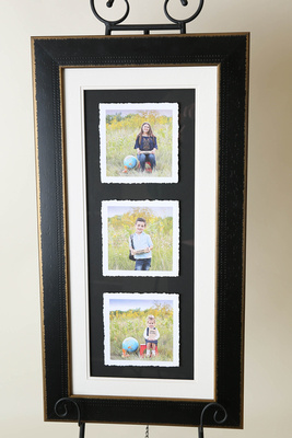 Framed Torn Trio Print - Finished Photography Product