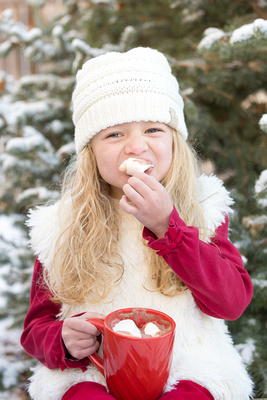 Child's Winter Photo Session Captured by Aurora Colorado Photographer Donna Young