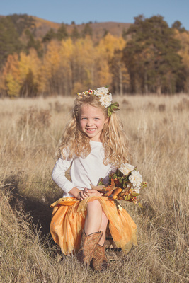 Child's Fall Mountain Photo Session Captured by Aurora Colorado Photographer Donna Young
