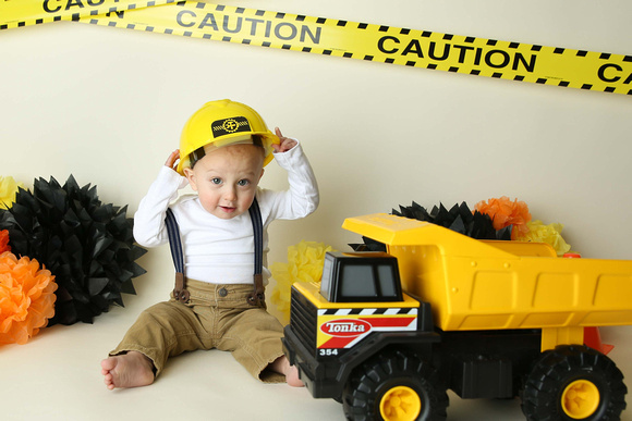 Liam and his Construction Birthday Photo Session