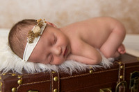 Newborn Baby Girl with Headband