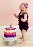 Child's First Birthday Cake Smash Session Captured by Aurora Colorado Photographer Donna Young